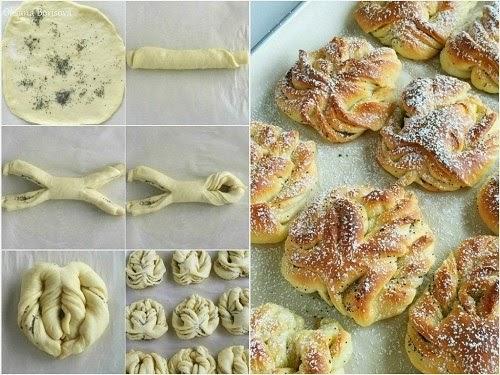 Как сделать красивые булочки с сахаром из дрожжевого теста
