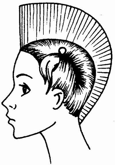 волосы с · Схема стрижки